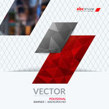 Business vector design elements for graphic layout. Modern abstr. Act background template with red diagonal, triangular shapes for PR, business, tech in clean Stock Photo