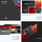 Business vector design elements for graphic layout. Modern abstr. Act background template with red squares, triangles, diagonal geometric shapes for tech in Royalty Free Stock Photos