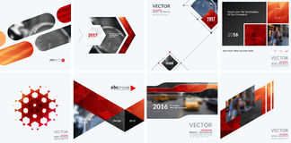 Business vector design elements for graphic layout. Modern abstr. Act background template with red squares, triangles, diagonal geometric shapes for tech in stock photos