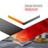 Business vector design elements for graphic layout. Modern abstr. Act background template with triangles, arrows for business, finance, buildings, nature concept stock photography