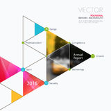 Business vector design elements for graphic layout. Modern abstr. Act background template with triangles, polygons for PR, business, tech in clean minimal style royalty free stock photos