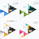 Business vector design elements for graphic layout. Modern abstr. Act background template with triangles, polygons for PR, business, tech in clean minimal style stock images