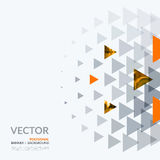 Business vector design elements for graphic layout. Modern. Abstract background template with colourful triangles, geometric shapes for tech, market, innovative Royalty Free Stock Photos