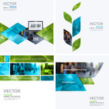 Business vector design elements for graphic layout. Modern. Abstract background template with many green eco geometric shapes, banners for PR, business, tech in stock photos