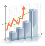 Business vector Graph Royalty Free Stock Photo