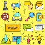 Business Vector Icon Set Royalty Free Stock Photos