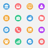 Business vector icons flat Stock Photo
