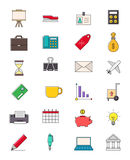 Business vector icons set Royalty Free Stock Photo