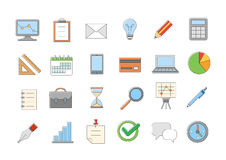 Business vector icons set Royalty Free Stock Photos