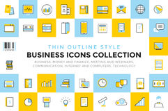 Business vector icons set bundle. Communication Stock Photography
