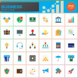 Business vector icons set, modern solid symbol collection, colorful pictogram pack isolated on white. Pixel perfect logo illustration Royalty Free Stock Photos