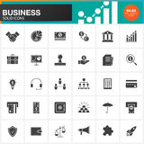 Business vector icons set, modern solid symbol collection, pictogram pack  on white. Pixel perfect logo illustration Stock Photos