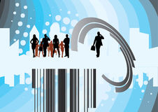 Business vector illustration. With shilouettes of businessmen Royalty Free Stock Photography