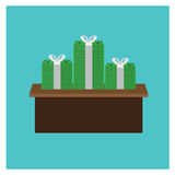 Business Vector illustration icon dollar cash pile money on a Royalty Free Stock Photography