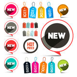 Business Vector Labels - Stickers Stock Photos