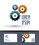 Business vector logo design template. Gear or work Royalty Free Stock Photography