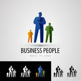 Business vector logo design template. people or Stock Images