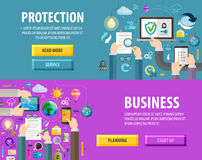 Business vector logo design template. protection Stock Images