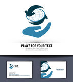 Business vector logo design template. world or Royalty Free Stock Photography