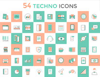 Business vector logo icons set. Objects, techno Stock Images