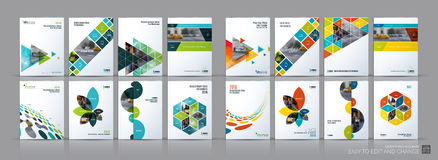 Business vector mega set. Brochure template layout, cover design royalty free illustration
