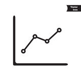 Business vector progress chart Royalty Free Stock Photography