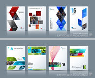 Business vector set. Brochure template layout, cover design annu Stock Photo