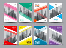 Business vector set, Brochure template layout, cover design Stock Image