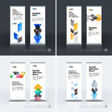 Business vector set of modern roll Up Banner stand design templa Royalty Free Stock Photos