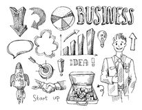 Business vector sketch royalty free illustration
