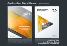 Business vector template, brochure design, abstract annual report, cover modern layout Stock Photos
