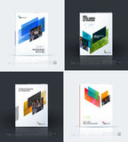 Business vector template. Brochure design, cover modern layout a. Nnual report, poster, flyer in A4 with colourful diagonal abstract shapes for construction Stock Image