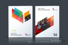 Business vector template. Brochure design, cover modern layout a. Nnual report, poster, flyer in A4 with colourful diagonal abstract shapes for construction royalty free illustration
