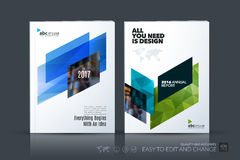 Business vector template. Brochure design, cover modern layout a. Nnual report, poster, flyer in A4 with colourful diagonal abstract shapes for construction Stock Images