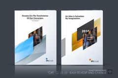 Business vector template. Brochure design, cover modern layout a. Nnual report, poster, flyer in A4 with colourful diagonal abstract shapes for construction Stock Photography