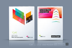 Business vector template. Brochure design, cover modern layout a. Nnual report, poster, flyer in A4 with colourful diagonal abstract shapes for construction Stock Photo