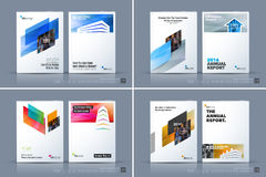 Business vector template. Brochure design, cover modern layout a. Nnual report, poster, flyer in A4 with colourful diagonal abstract shapes for construction Royalty Free Stock Photography