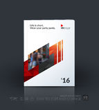 Business vector template. Brochure design, cover modern layout a. Nnual report, poster, flyer in A4 with red diagonal abstract shapes for construction, teamwork vector illustration
