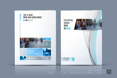 Business vector template. Brochure layout, cover modern design a Royalty Free Stock Images