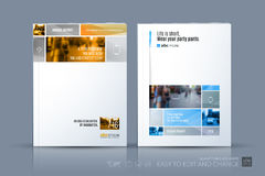 Business vector template. Brochure layout, cover modern design a Stock Photography