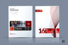 Business vector template. Brochure layout, cover modern design a Stock Images