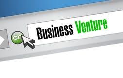 Business venture browser sign concept. Illustration design Stock Images