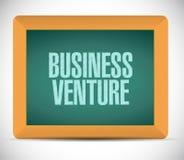 Business venture chalkboard sign concept. Illustration design Royalty Free Stock Image