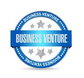 Business venture seal sign concept. Illustration design isolated over white Royalty Free Stock Photo