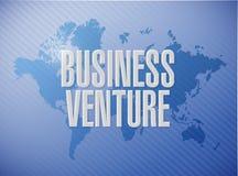 Business venture world map sign concept. Illustration design Royalty Free Stock Image