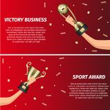 Business Victory and Sport Award Web Banners Stock Image