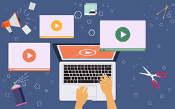 Business video marketing content online concept Royalty Free Stock Photos