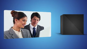 Business videos against white background Royalty Free Stock Image