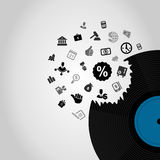 Business Vinyl Royalty Free Stock Photography