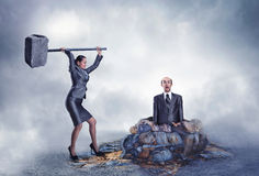 Business violence Royalty Free Stock Images